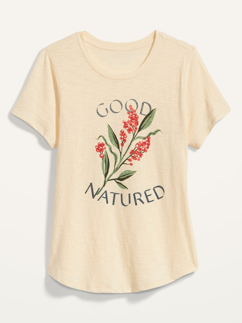 ON Everywear Graphic Slub-Knit Tee For Women - Sundance