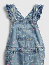 Gap Toddler Recycled Ruffle Overalls - Butterflies