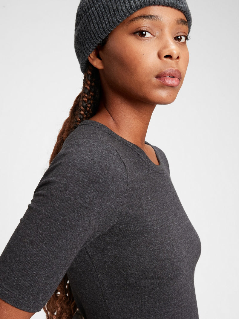 Gap Jersey Knit Crewneck T-Shirt - True Black