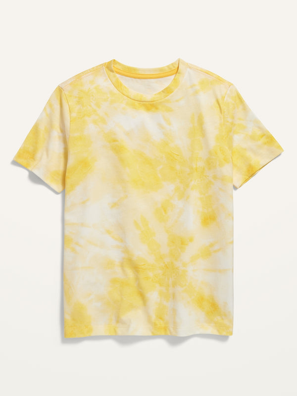 ON Softest Crew-Neck Tee For Boys - Yellow Combo