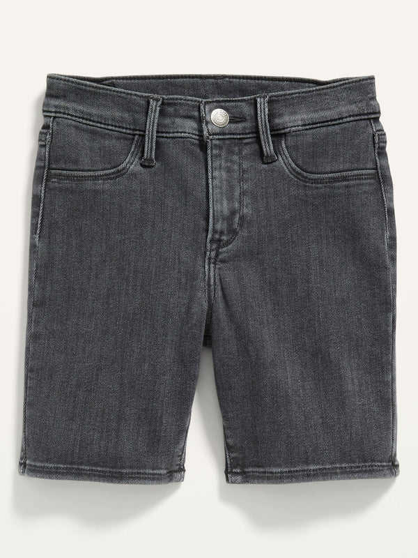 ON Ballerina Black-Wash Jean Shorts For Girls - Night Out