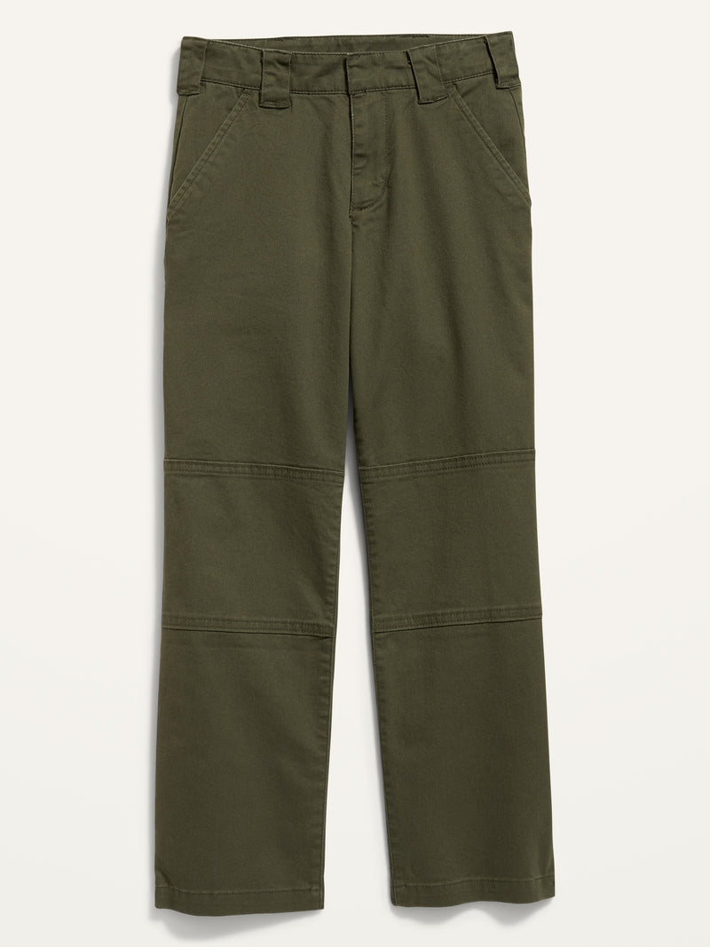 ON Ollie Loose-Fit Gender-Neutral Skater Cargo Pants For Kids - Forest Floor