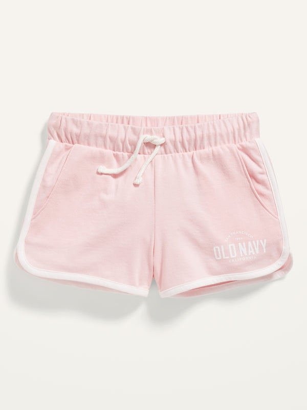 ON Logo-Graphic Jersey Shorts For Girls - Pink Pirouette