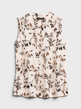 BR Sleeveless Shirt - Neutral Floral