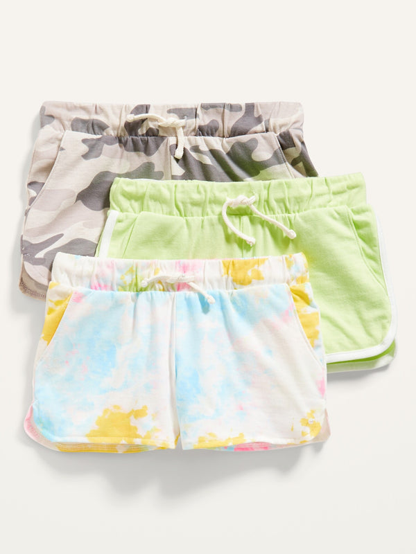 ON - Online Exclusive - Dolphin-Hem Cheer Shorts 3-Pack For Girls - Grey Camo