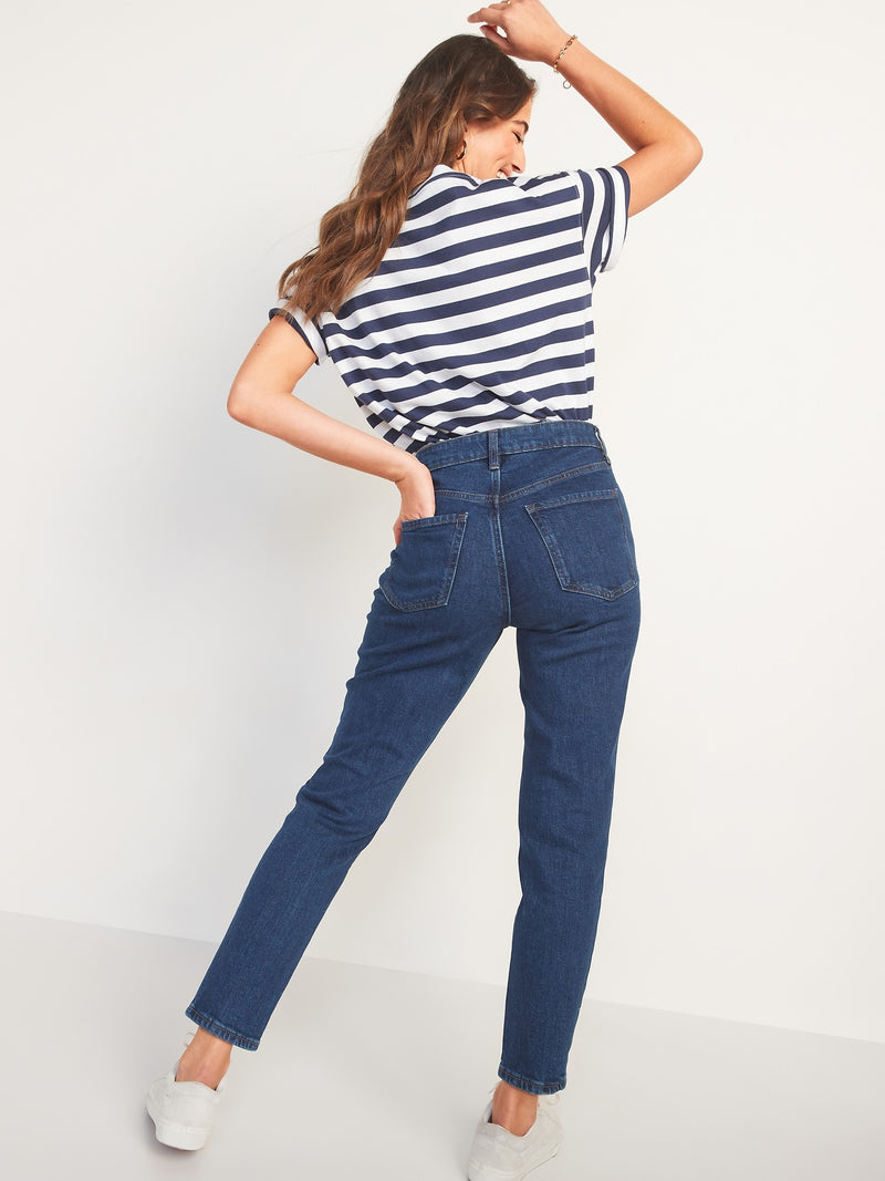 ON High-Waisted O.G. Straight Ankle Jeans For Women - Rinse