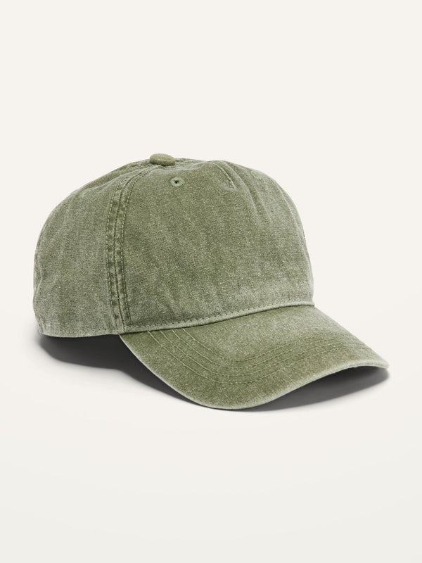 ON Garment-Dyed Canvas Baseball Cap For Boys - Olive Green