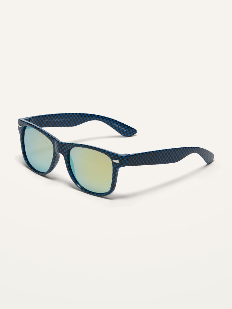 ON Square-Shaped Sunglasses For Boys - Navy Blue Check