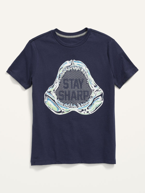 ON Graphic Crew-Neck Tee For Boys - Lost At Sea Navy