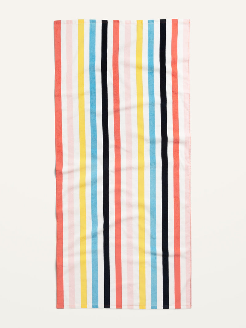 ON Printed Terry-Cloth Beach Towel - Multi Stripe