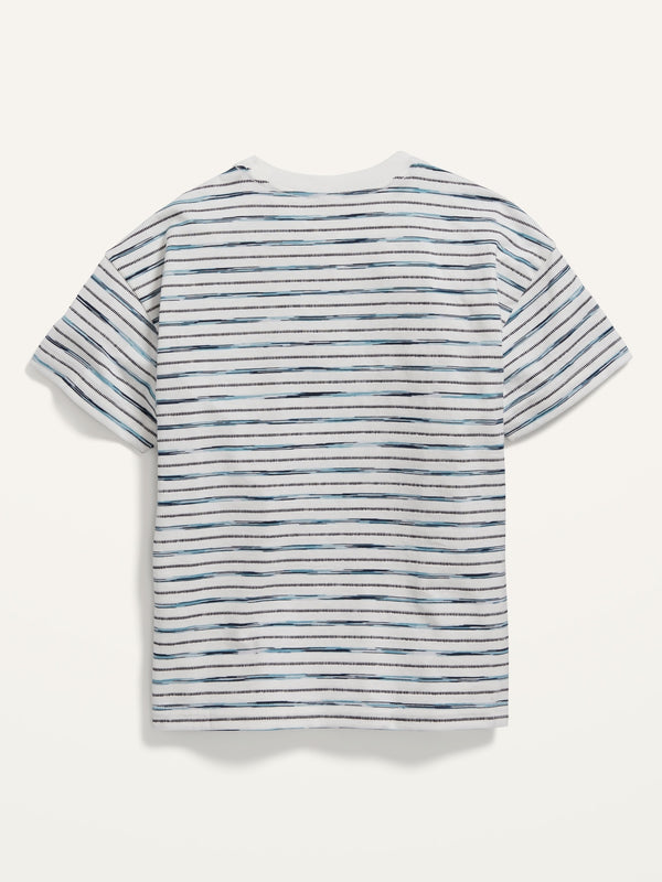 ON Short-Sleeve Striped Pocket Tee For Boys - White J