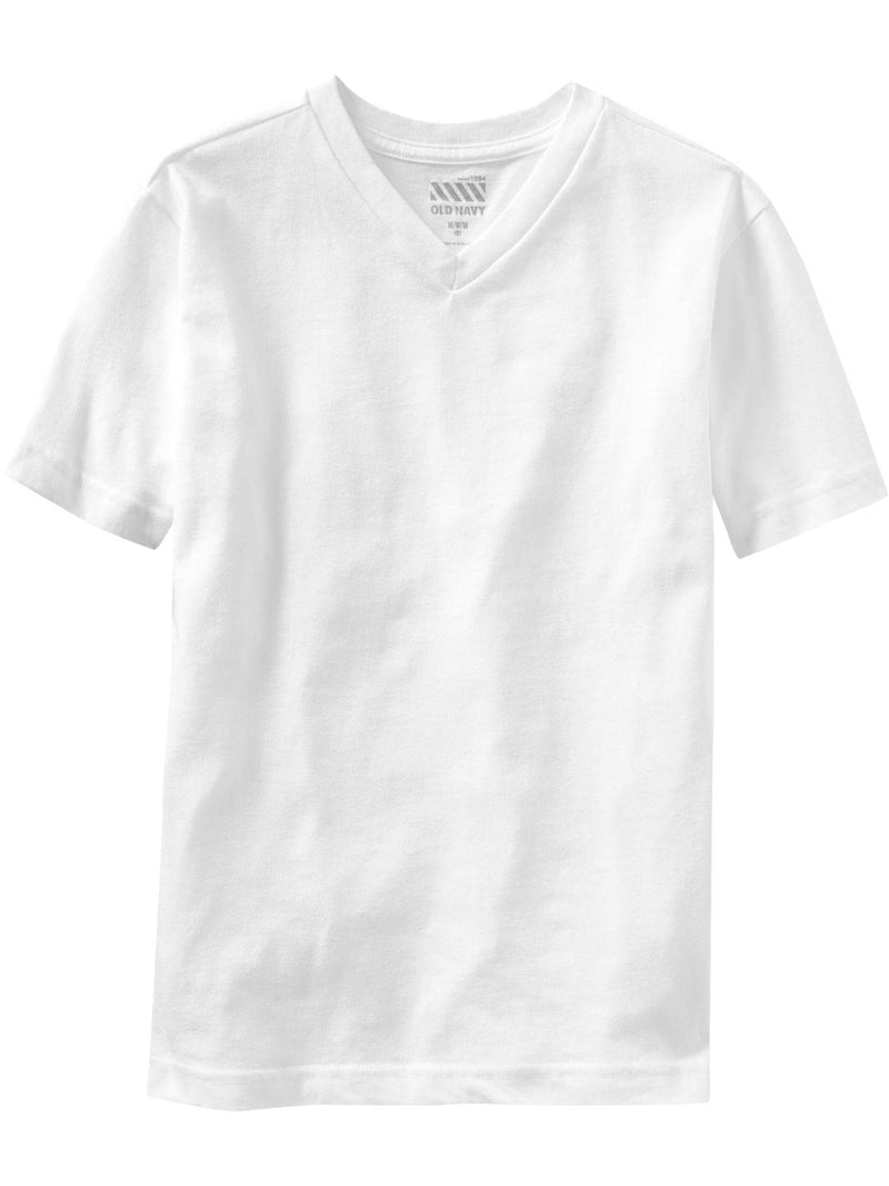 ON Camiseta Softest V-Neck Tee For Boys - Blanco Brillante