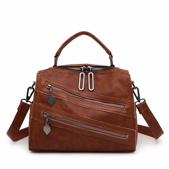 Multifunction Women Leather Backpacks High Quality Sac A Dos Female Travel Shoulder Bag Ladies Bagpack Vintage Small BackPack