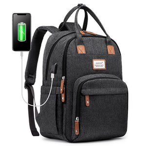 LOVEVOOK laptop backpacks women multifunctional canvas backpacks unisex waterproof anti-thieft backpacks for school/work/travel
