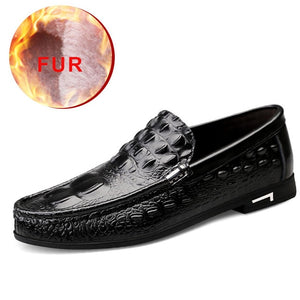 2020 Men Shoes Leather Breathable Soft Casual Leather Shoes Men Non-slip Shoes Men Loafers Flats Big Size 38-46 Rubber Summer