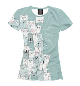 Women's T-shirt cats