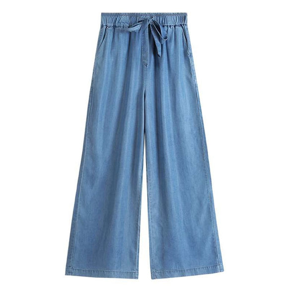 2020 Women Plus size M-5xl 6xl 7xl Denim pants Fashion Summer wide leg Jeans big size Autunm straight cotton jeans trousers