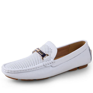 28-65 Genuine Leather Men Shoes Casual Breathable Summer Shoes Men Loafers High Quality