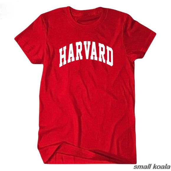 Harvard University short sleeve t shirt tee t-shirts men and women casual jersey streetwear s runaway clothes high quality