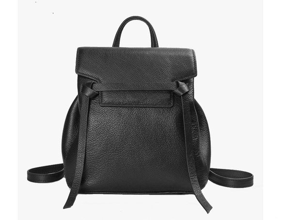 Genuine Leather Texture Soft Belt Backpack School Bag For Women High Quality