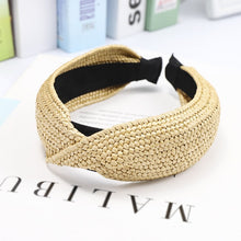 Load image into Gallery viewer, Bohemian Straw Hairband