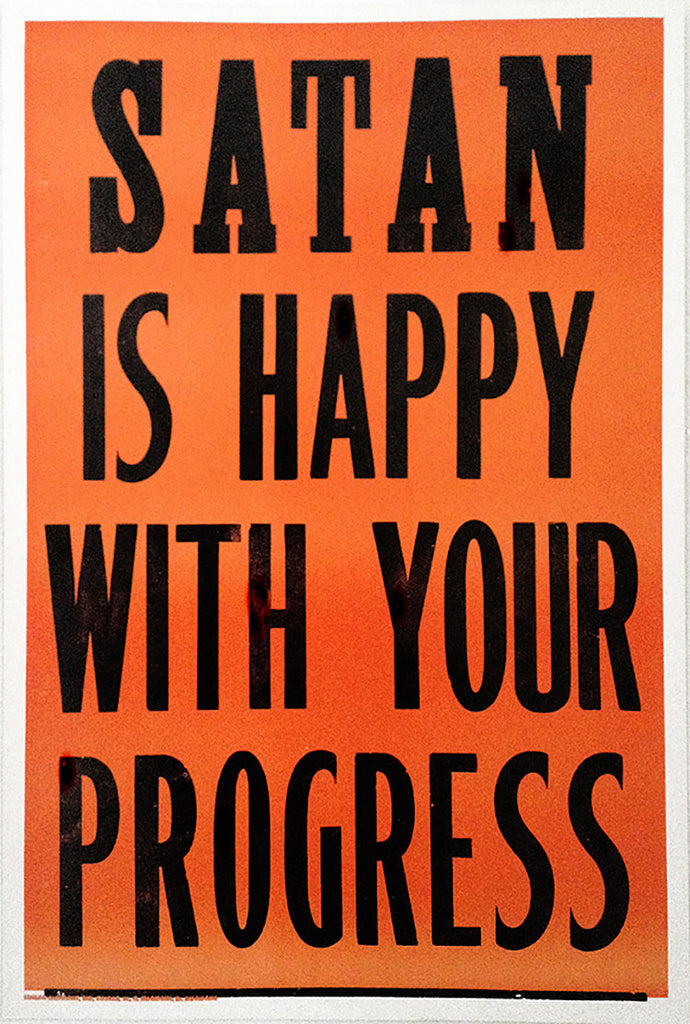 "George Horner, ""SATAN IS HAPPY"""