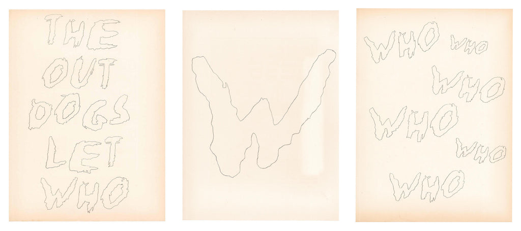 "Ben Sisto, ""Who (Collection of 3 Drawings)"""