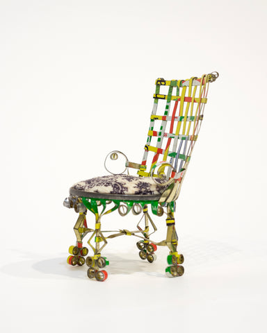 "Unknown, ""Woven Back Tin Chair"" SOLD"