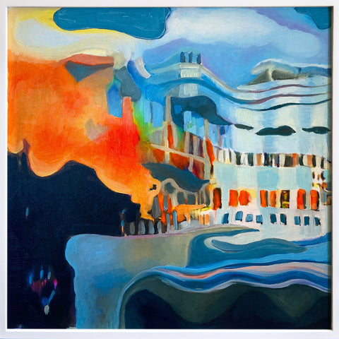 "Anne Spalter, ""Ship Fire Landscape"" SOLD"