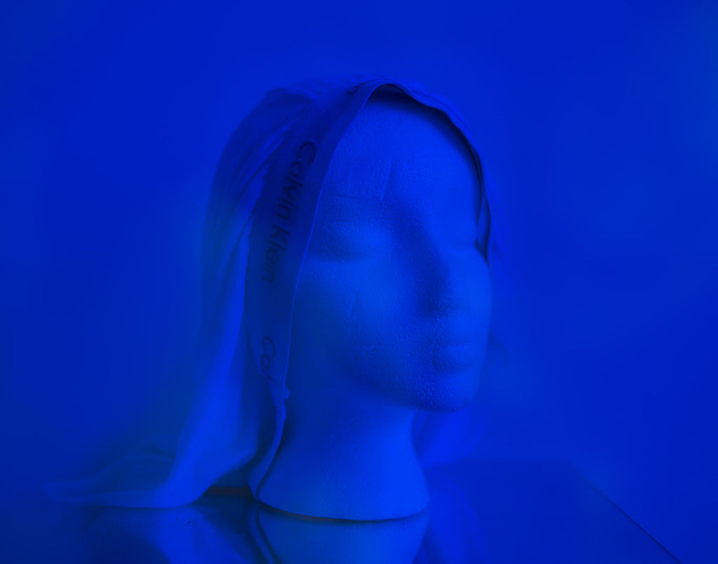 "Jo Karlins, ""Virgin in Blue"""