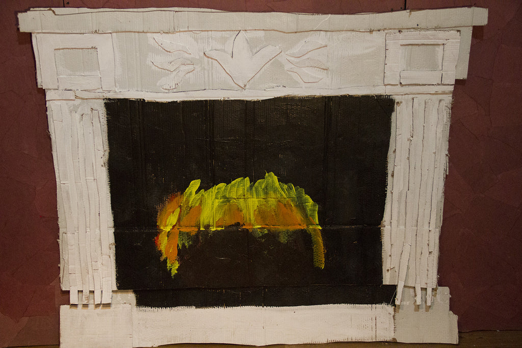 "Cate Giordano, ""Fireplace"" SOLD"