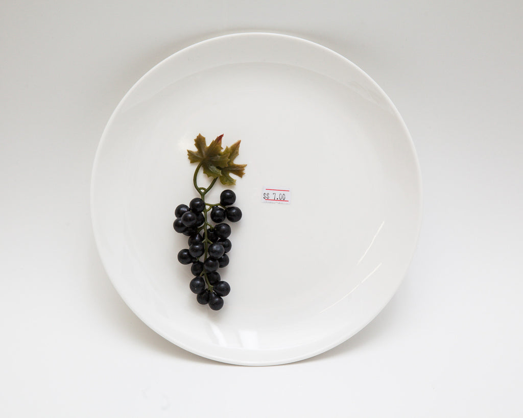 "Jo Karlins, ""CommemorativePlate1- $7Grapes"""