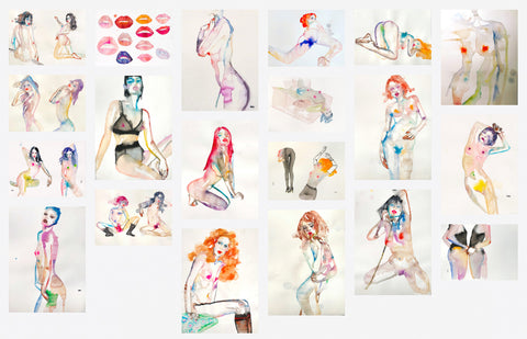 "Fahren Feingold, ""Series of Watercolors on Paper"""