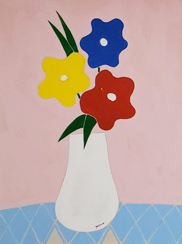 "Gordan Douglas Ball, ""Yellow, Blue, Red, Bouquet"""