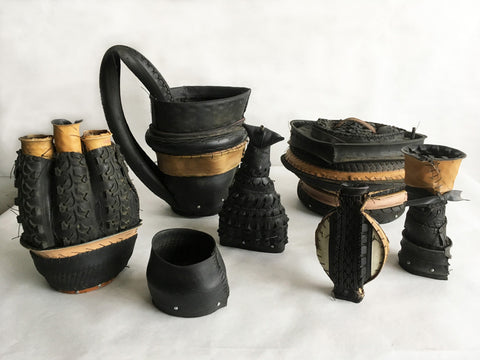 "Judy Richardson, ""Tire Jar - Triple Spout"""