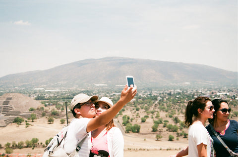 "Andrew Gori + Ambre Kelly, ""Couple-Teotihuacan, Mexico"""