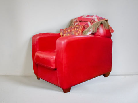 "Unhee Park, ""Red Bonded Leather Tub Club #01"""