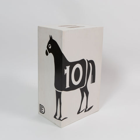 "Dylan Egon, ""Black 10 Horse Table Stool"""