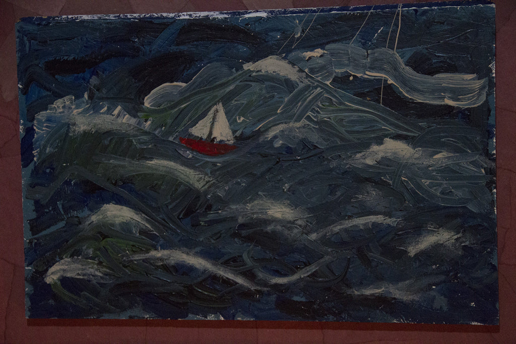 "Cate Giordano, ""Sailboat Painting"" SOLD"