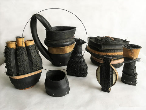 "Judy Richardson, ""Tire Jars - Big Pitcher"""