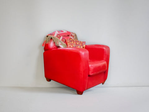 "Unhee Park, ""Red Bonded Leather Tub Club #02"""