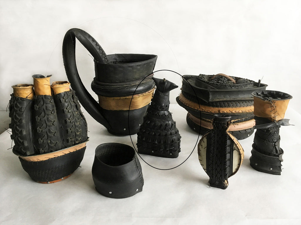 "Judy Richardson, ""Tire Jars - Flask"" SOLD"
