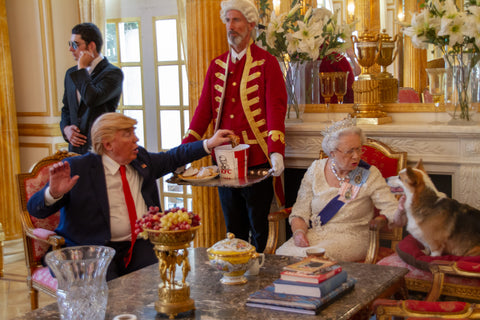 "Alison Jackson, ""Trump And Queen Have KFC"""