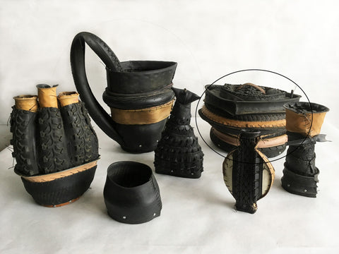 "Judy Richardson, ""Tire Jars - Casserole"""