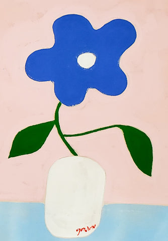 "Gordan Douglas Ball, ""Blue Flower"""