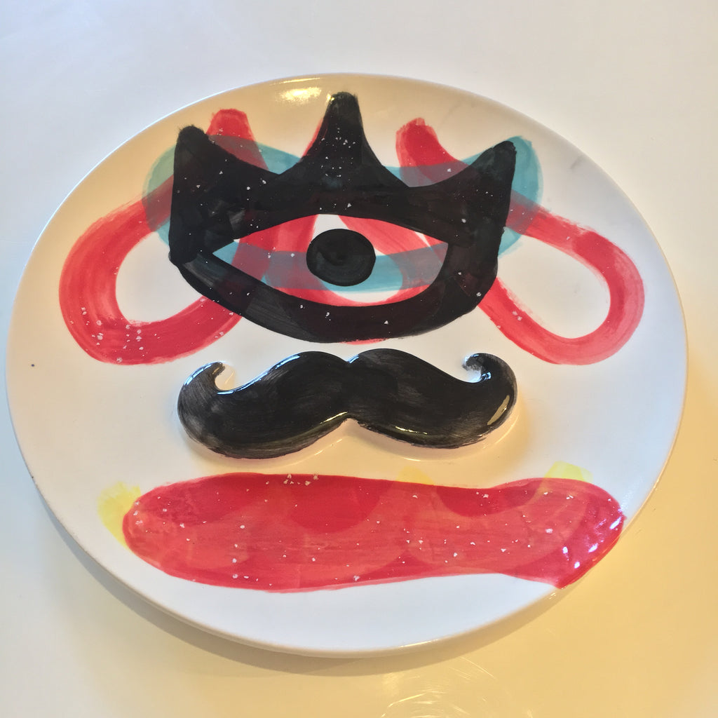 "LILKOOL, ""Mr. Mustache (Red)"" SOLD"