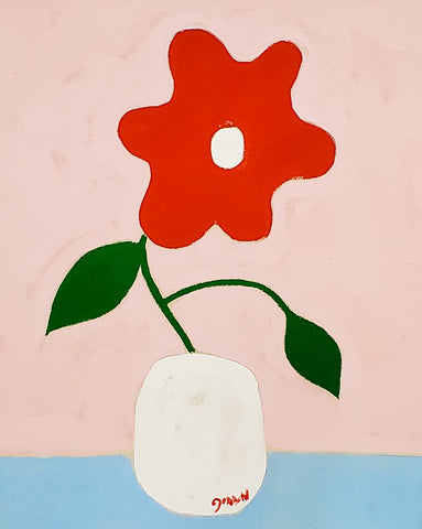 "Gordan Douglas Ball, ""Red Flower"""