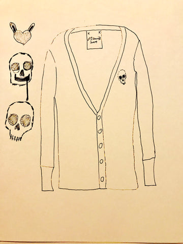 "Kellesimone Waits, ""Skull Sweater Sketch"""