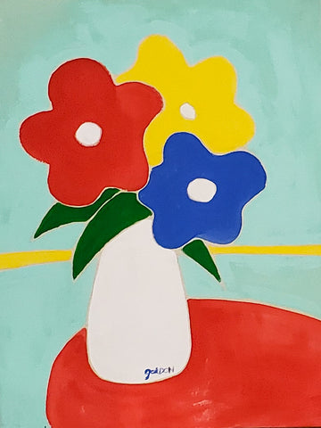 "Gordan Douglas Ball, ""Red, Yellow, Blue Bouquet"""