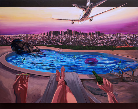 "Julian Tan, ""Tesla In The Pool By The Fool"""